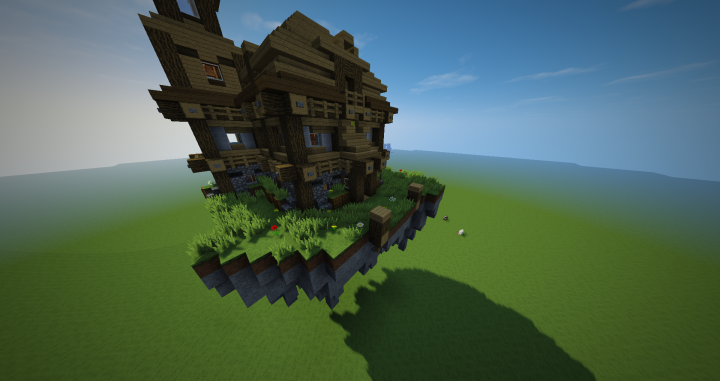 Simple Floating House Minecraft Map