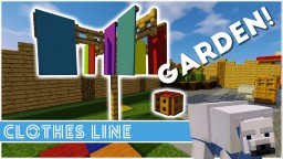 Minecraft - How To Make A Clothes Line Minecraft Map & Project