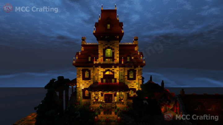 Spooky Haunted Creepy House Inspired by the Phantom Manor haunted house at Euro Disney Land Paris