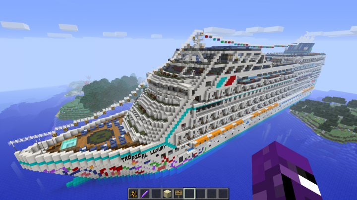 Tropical Luxury Cruise Ship Minecraft Project - New luxury cruise ships