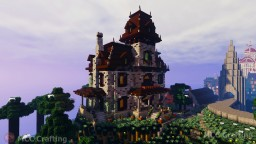Phantom Manor Haunted Spooky Creepy Halloween House Minecraft Map & Project