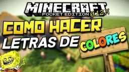 ! Change colors as items of Minecraft !! JUST FOLLOW THE STEPS Minecraft Project