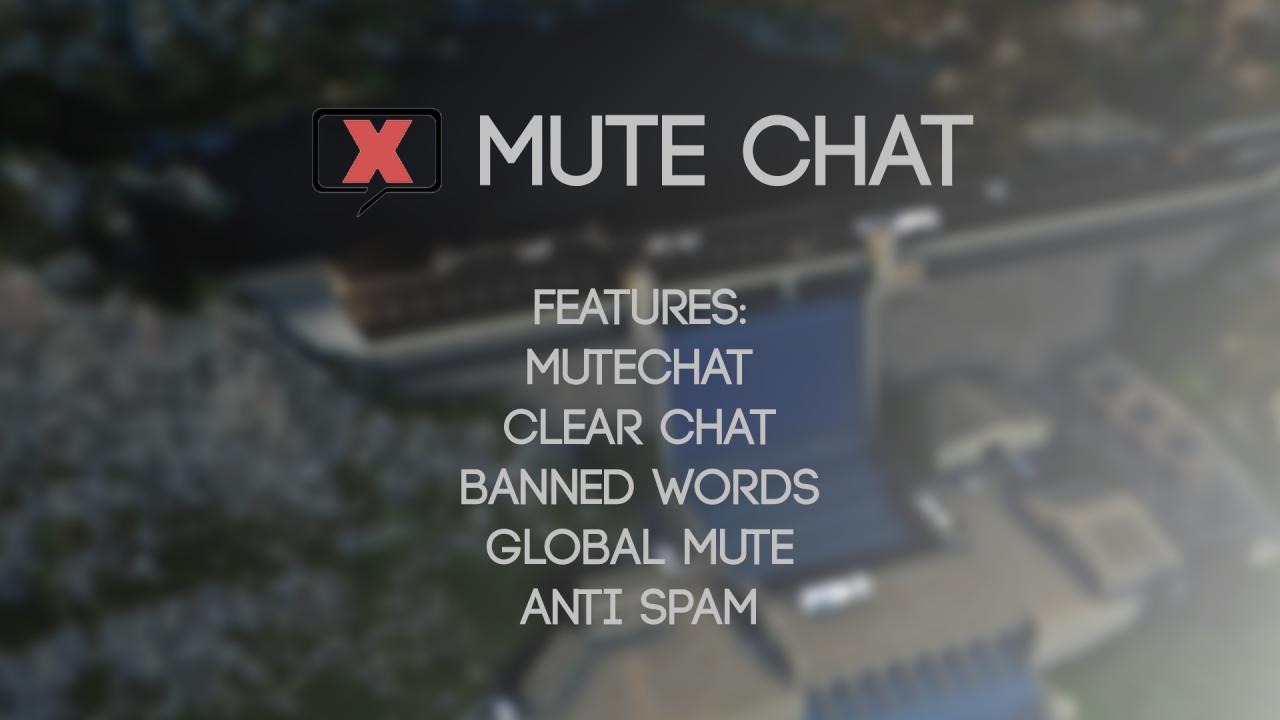 Mute Chat - Spigot Plugin Minecraft Project