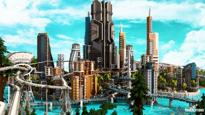 Luccid Utopia City Of The Future Minecraft Project