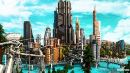 Luccid Utopia - City of the Future Minecraft Map & Project