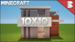 ✔ Minecraft: 10X10 Modern House Tutorial | Easy To Follow ❤ Minecraft Map & Project