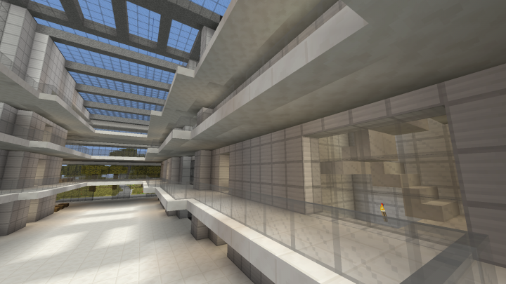 One of nine atriums in the building built in four different styles