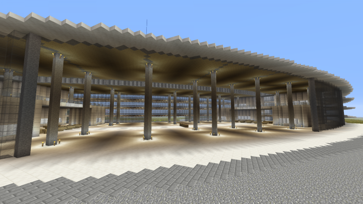 A broader view of the cafeteria, to put it in scale.