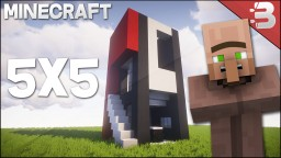 Minecraft 5X5 Modern House Tutorial Minecraft