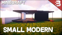 ✔ Minecraft: How To Build A Small Modern House Tutorial | Easy To Follow ❤ Minecraft Map & Project