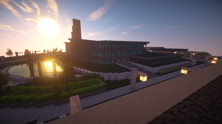 Modern factory minecraft project for Modern factory building design