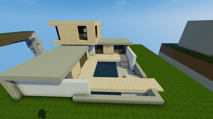 Petite maison moderne minecraft project for Maison moderne 64