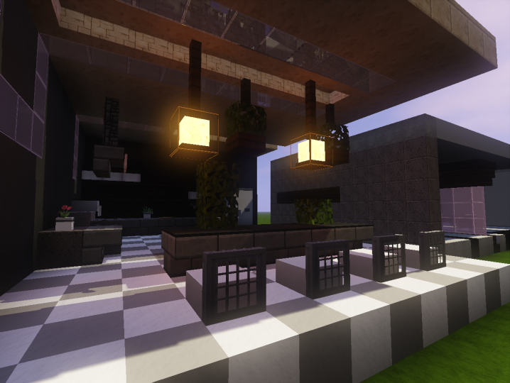 3 modern kitchen designs minecraft project for Kitchen ideas minecraft