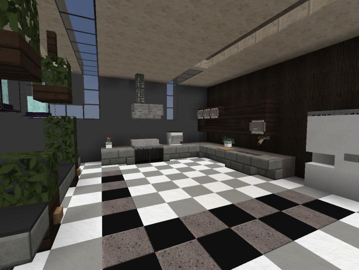 3 Modern Kitchen Designs Minecraft Project
