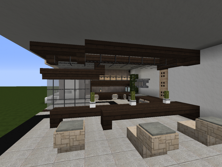 Minecraft kitchen design for Kitchen ideas minecraft