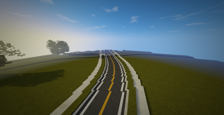 how to make curved roads in minecraft