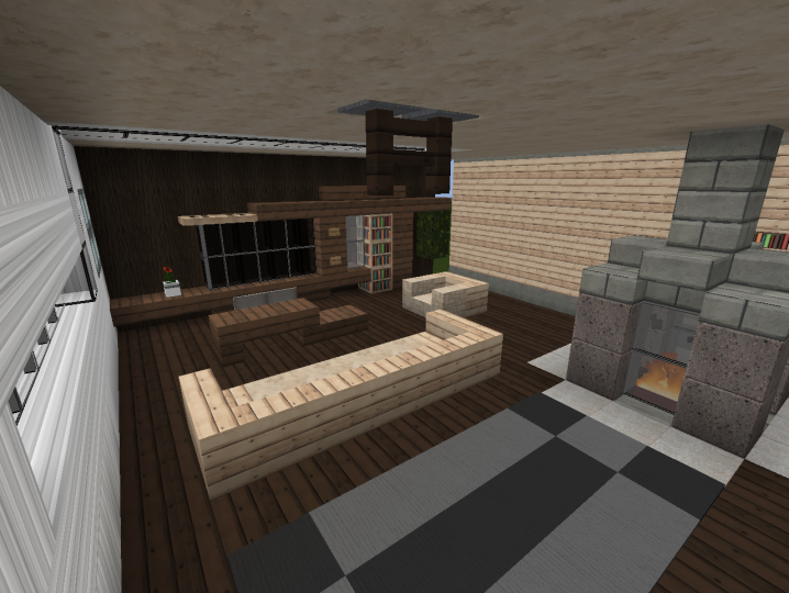 3 modern living room designs minecraft project for Living room ideas in minecraft