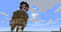 Hot Air Balloon House: Infernal Realms Minecraft Project