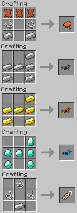 minecraft craft saddle 1 11 2 craft saddles and armor minecraft mod 2471