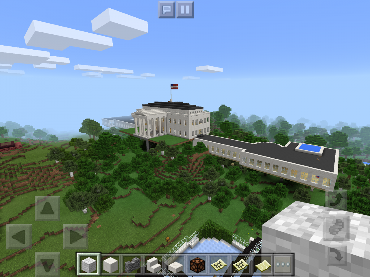 Fortress white house minecraft project for Fortress house