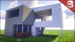 Minecraft Simple Modern House + Youtube Tutorial Minecraft Project