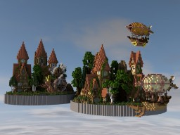 The Flying Town Minecraft Map & Project
