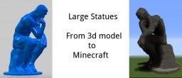 From 3d to minecraft (Large statues) Minecraft Blog