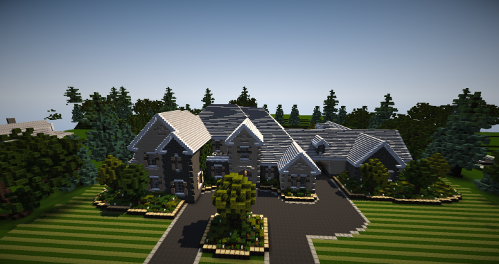 French Country Mansion Minecraft Project