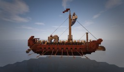 small Galley roman like with crew in ConquestReforged Minecraft Map & Project