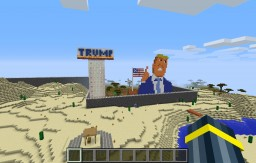 The U.S./Texas trumpian wall Minecraft Project