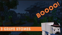 Minecraft - How To Make 3 Grave Stone Designs Minecraft Project