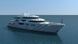 Superyacht 'Grayscale' (full interior) Minecraft Map & Project