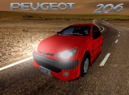 PEUGEOT 206 Minecraft Map & Project