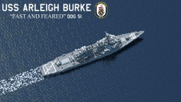 OUTDATED | USS Arleigh Burke - DDG 51 - USA Arleigh Burke-class Guided Missile Destroyer Minecraft