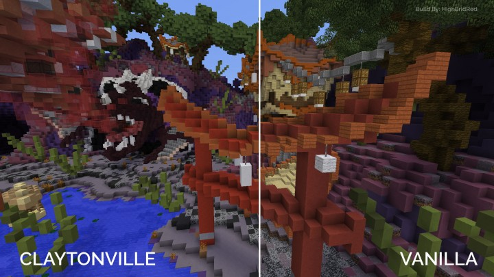 With and without Claytonville applied. Build by HighBraidRed