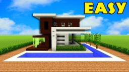 MODERN HOUSE - TUTORIAL - EASY & COMPACT Minecraft