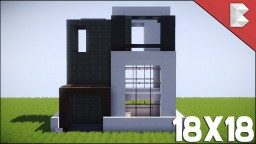✔ Minecraft: 18X18 Modern House Tutorial | Best Small Modern House ❤ Minecraft Map & Project