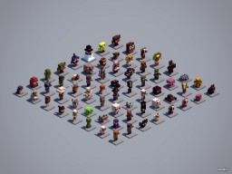 64 Minecraft Mini Builds!