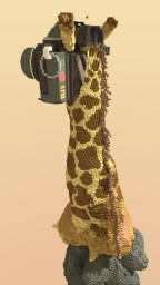 Giraffe and Photographer: Surreal Combination Minecraft Map & Project