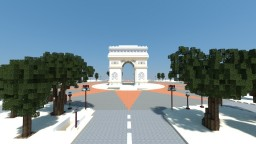 Arc de Triomphe in Paris Minecraft Project