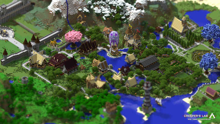 The town of Sanctum, by Kagato and others
