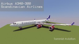 Airbus A340-300 Scandinavian Airlines [New version][+Download] Minecraft Project