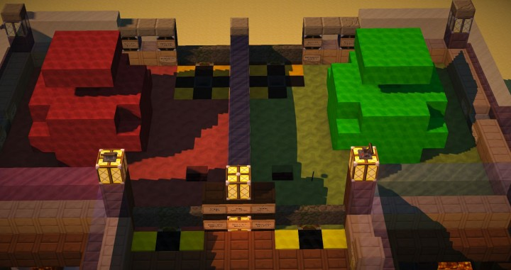 Wool Blocks Player RedGreen