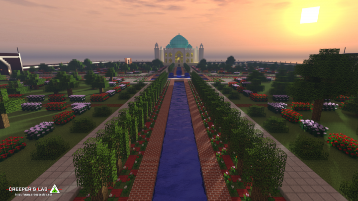 The Taj Mahal and its gardens, by WindRider739