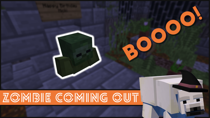 Minecraft - How To Make A Zombie Coming Out of A Grave Halloween