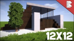 ✔ Minecraft: 12X12 Modern House Tutorial Minecraft Map & Project