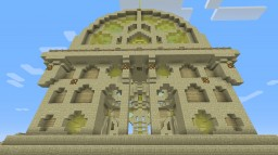 """Sun Temple"" 31x31 Sandstone Decorative Structure Minecraft Map & Project"