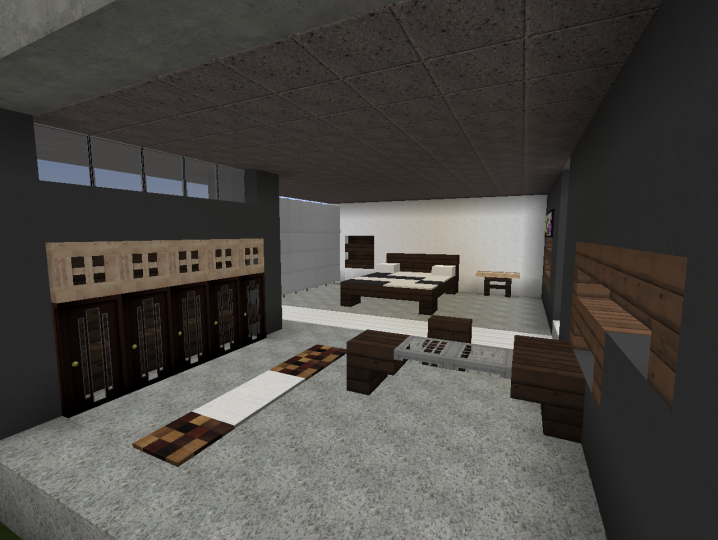 3 Modern Bedroom Designs Minecraft Project