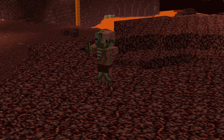 Zombie Pigman with his tiny sword