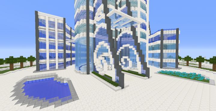 Quartz Tower 7 Minecraft Project
